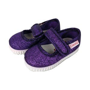 Cienta Glitter Maryjanes Adjustable Fruity Outsole